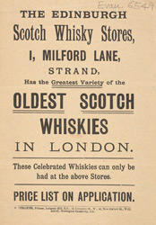 Advert for the Edinburgh Scotch Whisky Store